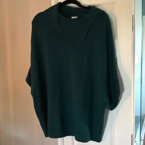 CAbi Foldover Ribbed Asymmetrical Sweater XL
